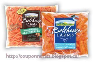 Coupons et Circulaires: .44¢ Carottes coupées Bolthouse Farms