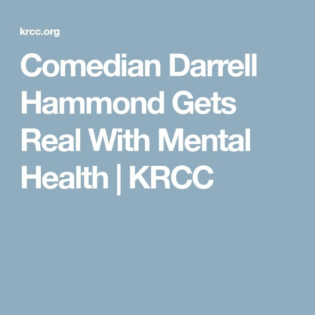 Comedian Darrell Hammond Gets Real With Mental Health | KRCC