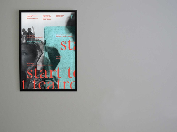Start Teatro | Poster Series by sente , via Behance