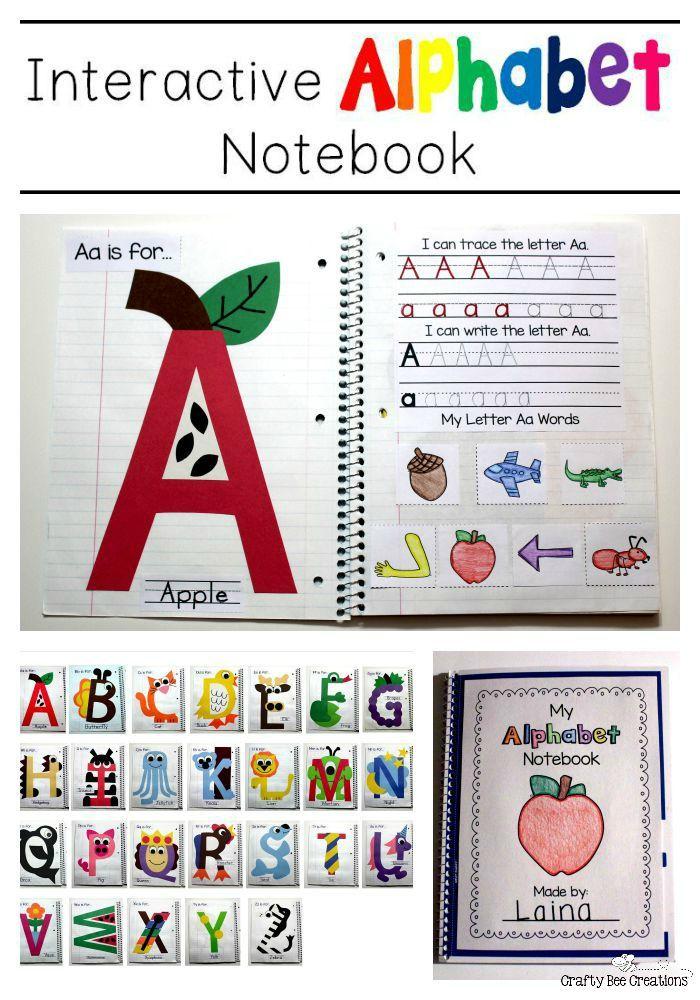 My First Interactive Notebook! Alphabet preschool