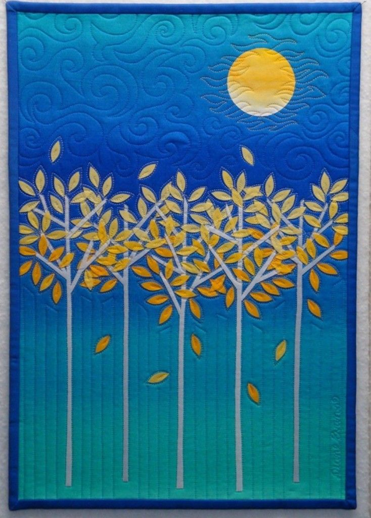 applique: Diane Evans, Beautiful Quilts, Applique Quilts, Art Quilts, Quilts Trees, Autumn Trees, Trees Quilts, Quilts Ideas, The Moon