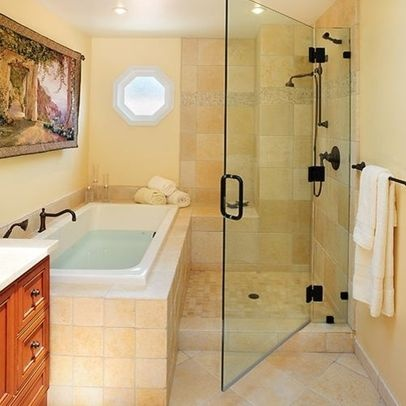17 Images About Wet Room Ideas On Pinterest Tub Shower Combo Wet Room Bat