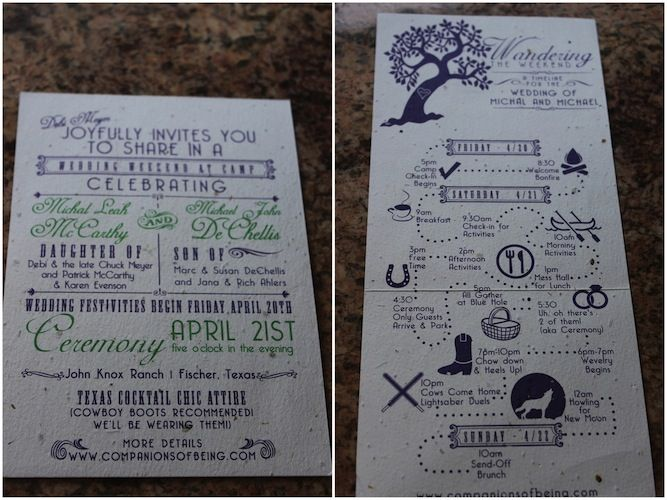 Camping Wedding Invitations: 25+ Best Ideas About Wedding Weekend Itinerary On