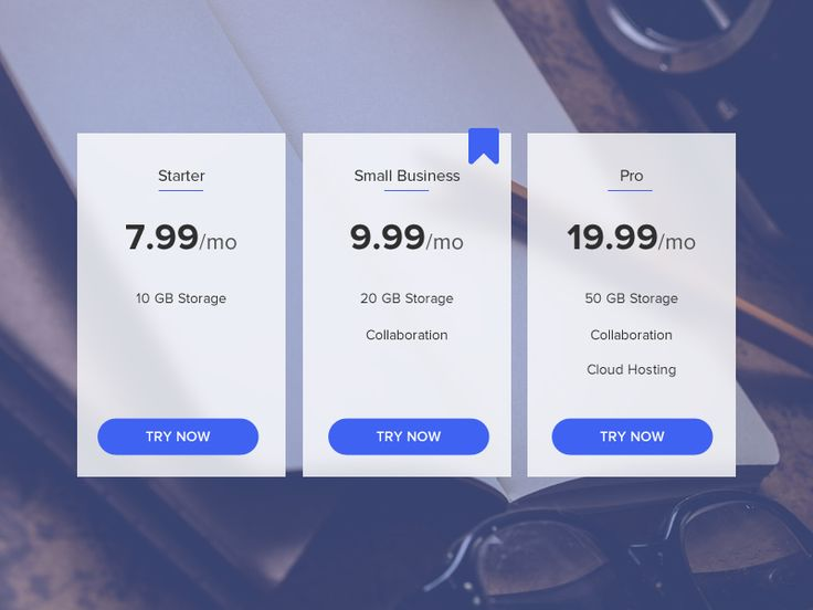 Daily UI Challenge - 030 Pricing Table
