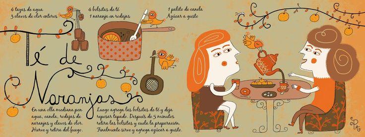 Te de Naranjas     Cositas Ricas Ilustradas por Pati Aguilera