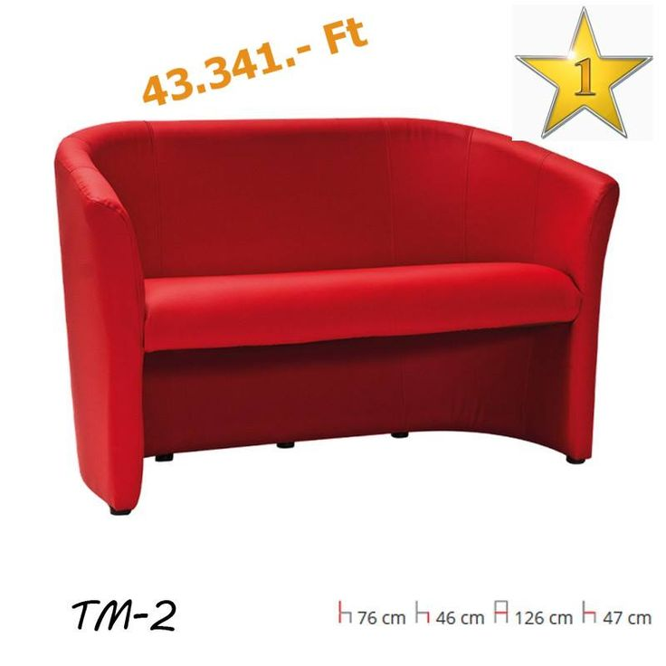A HÉT TERMÉKE  Szemvidítóan piros színű kanapé egy borongós, esős nyári délutánra!  Ne hagyd, hogy elrontsák a kedved az időjárás szeszélyei, szerezd be ezt a 2 személyes, vidám ügyfélváró fotelt! Ülőfelülete és háttámlája is textilbőr.