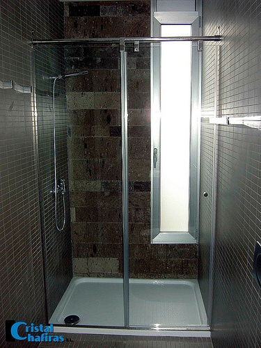 Mampara frente de ducha corredera inoxidable tenerife for Mamparas tenerife