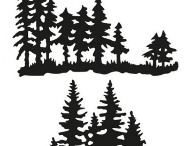 The Artful Stencil CHRISTMAS PINE TREE BORDER STENCIL