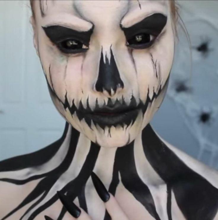maquillage pour halloween sugar skull effrayant