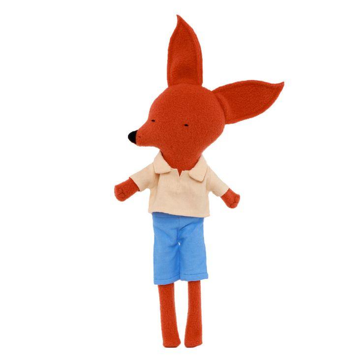 Long-legged Fox in Blue Shorts by Silly Dolls Canada