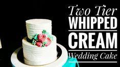 Wie macht man Schlagsahne Two Tier Hochzeitstorte | Machen Sie einfach Hochzeitstorte zu Hause …