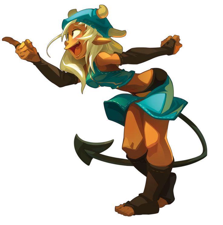 Cartoon Character Design Inspiration : Osamodas female the art of wakfu pinterest character