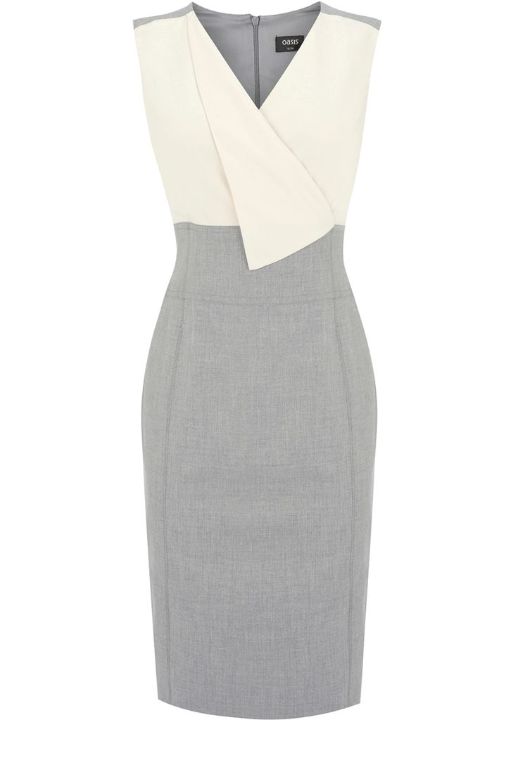 Fold Front Dress | Greys | Oasis Stores