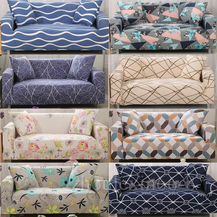 L-Shape 1//2//3//4 Seater Chair Cover Stretch Elastic Slipcovers Sofa Couch Cover