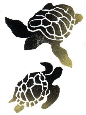 abtract hawaiian sea life | Sea-Turtle Paintings and Art at Artist Rising