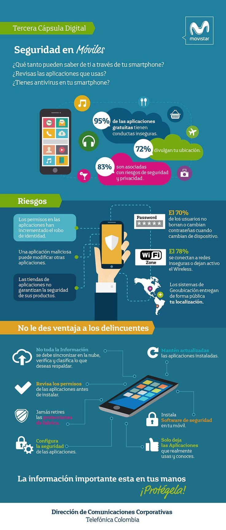 Seguridad en móviles #infografia #infographic