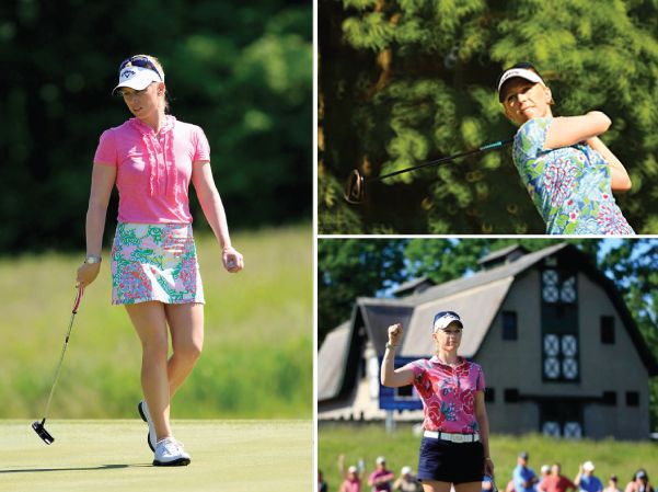 lilly pulitzer: official apparel sponsor of pro-golfer morgan pressel.