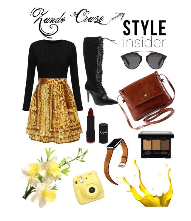 """""""Crazee"""" by saarahwilliams on Polyvore featuring Versace, Christian Dior, Hermès and NYX"""