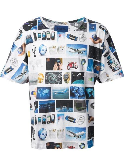 Men - Études 'Powder Surf' T-Shirt - WOK STORE
