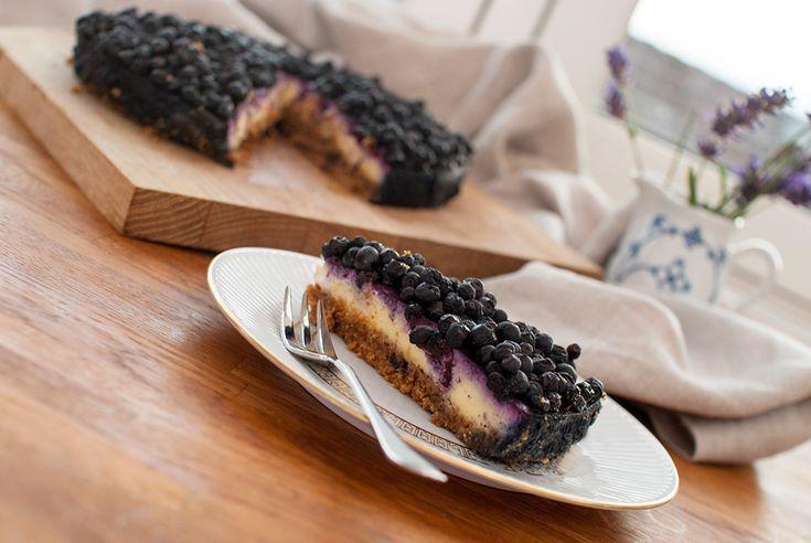 vegansk ostekake med blåbær oppskrift