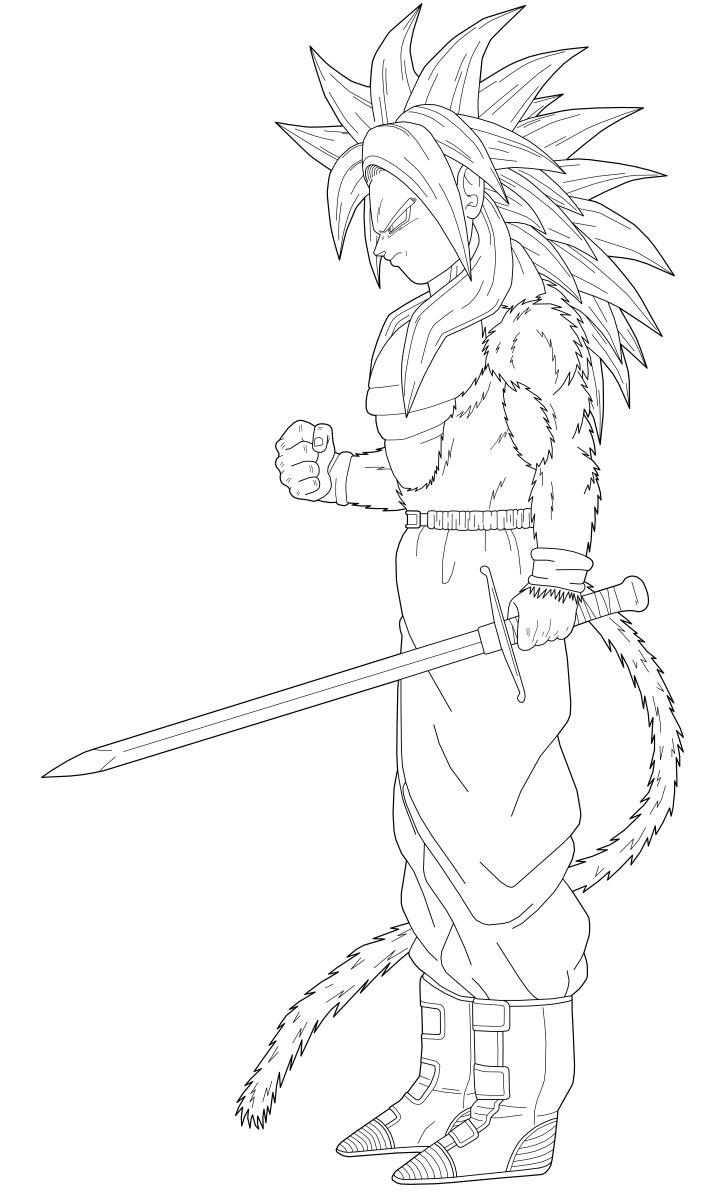 Dibujos De Dragon Ball Gt Para Imprimir Y Colorear Mica