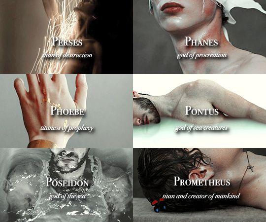 """Greek Gods, Titans and Primordial Deities """