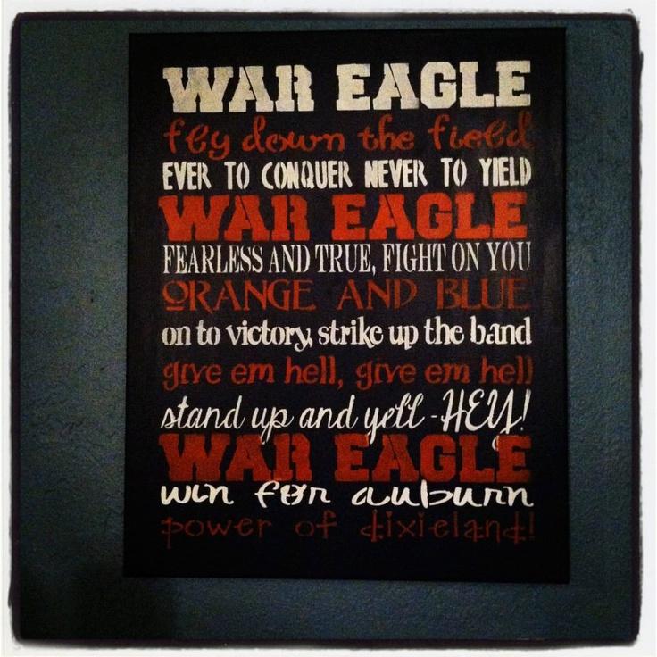 Auburn Tigers Sign Auburn University - auburn university fight song. $17.99, via Etsy.