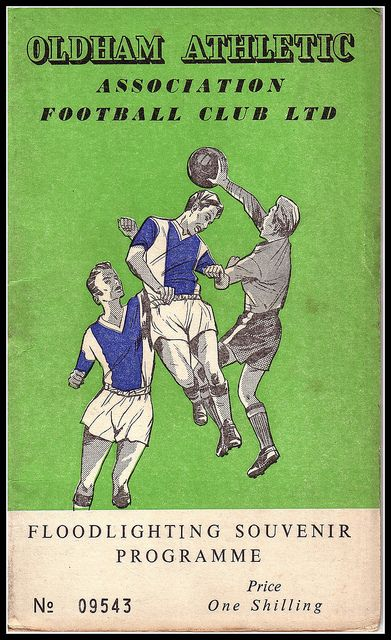 Oldham Athletic v Burnley 1960/61 by footysphere, via Flickr