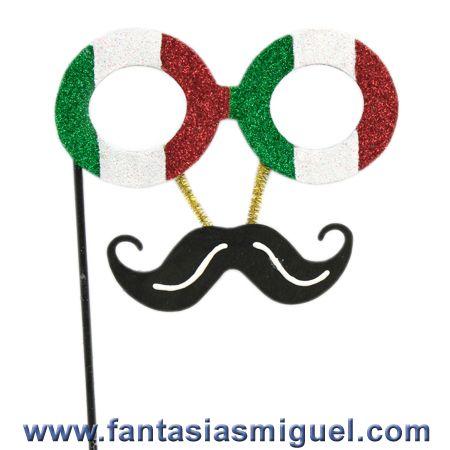 Antifaz Con Lentes Festejo Fiesta Mexicana 15 Septiembre - Como Hacer Manualidades - Fantasias Miguel