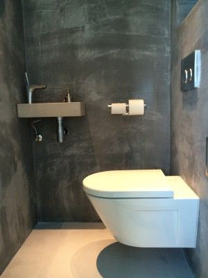 Beton Ciré Toilet  Made by Beton Ciré Centrum Den Haag  Beton Ciré Centrum beschikt over een showroom