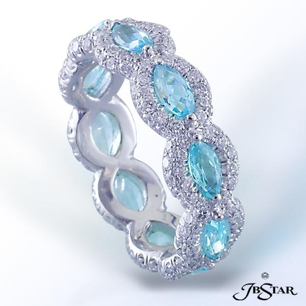 <3 <3 ADD diy www.customweddingprintables.com ... Paraiba and diamond eternity band.  By JB Star.