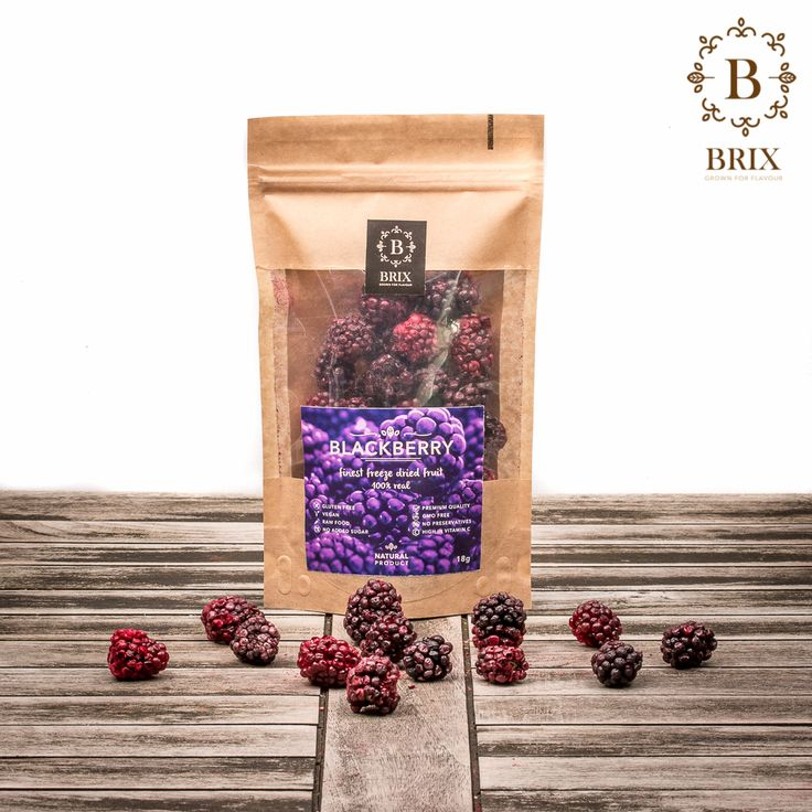 Finest freeze dried crispy Blackberries Photo courtesy of Brix-Grown for flavour #brixproducts #brixgrownforflavour #freezedriedfruitthatchangedmylife #FreezeDriedFruit #raw #vegan #healthy #crispy #blackberry #natural #noaddedsugar #foodpic #flavour #tasty #health #healthyfood #product #design