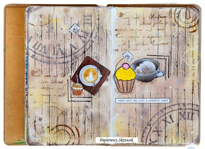 Papierowy Skrawek: Coffee art journal