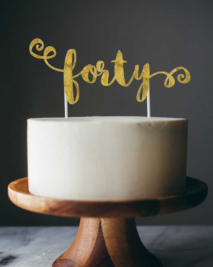 New to anaderoux on Etsy: topper - forty cake topper
