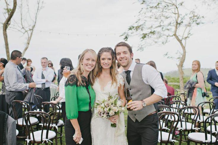 Marriage Celebrant Michelle Shannon with Josh and Nikki at Byron View Farm.  #celebrant #Byronviewfarm #Byronbay  Photo Bushturkey Studio