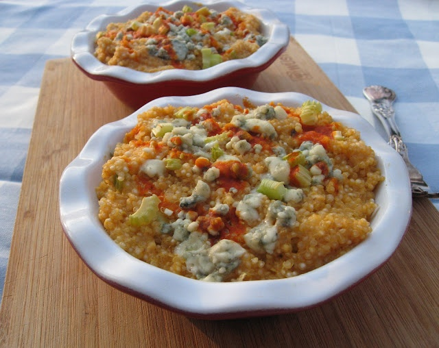 BUFFALO QUINOA MAC N CHEESE. Major Ingredients: Quinoa, Buffalo Sauce ...
