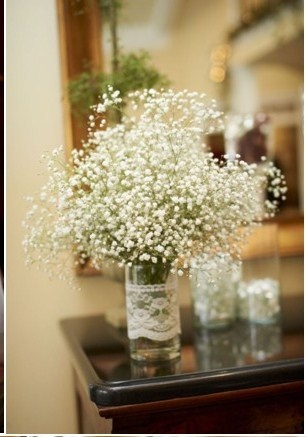 babys breath and lace
