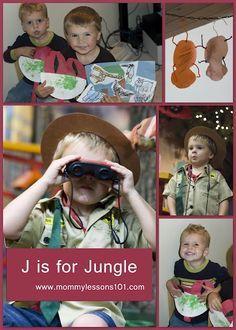 J is for Jungle preschool theme