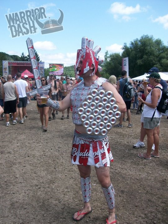 Next year's Warrior Dash outfit, except with Miller Lite