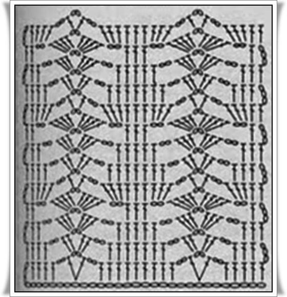 PATRONES=GANCHILLO = CROCHET = GRAFICOS =TRICOT = DOS AGUJAS: GRAFICOS AL CROCHET = PUNTOS FANTASIAS