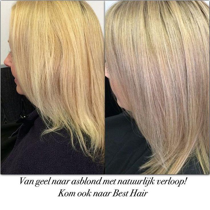 """""""#kleurcorrectie #blond #chihaircolor ..geweldig resultaat ..love my work❤️"""""""