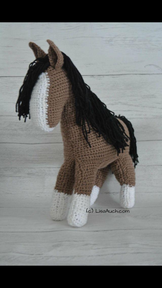 031 Crochet Pattern - HorsE-Bookmark or decor - Amigurumi PDF file ... | 1136x640