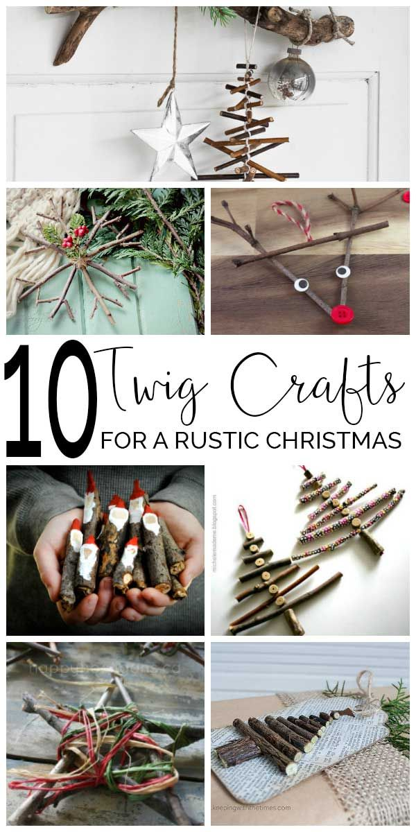 Natural Christmas decorations - Ten beautiful Christmas Twig Crafts for you and the children to make and decorate the home with from Stars to Santa something for everyone to try.