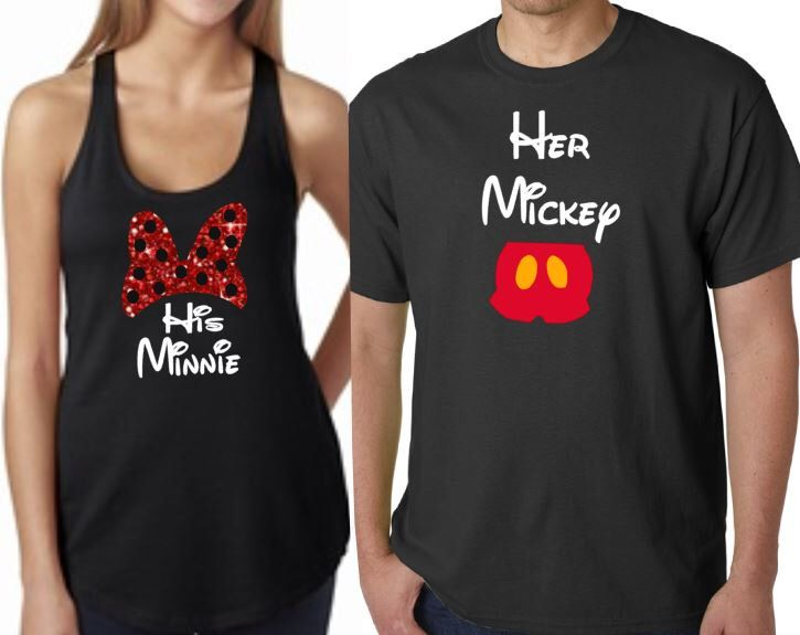 GLITTER His Minnie Her Mickey Set Mickey Minnie Wedding Couples Engaged Gift Newlyweds Shirts Vacation Attire Disney World Disneyland by MickeysMagicalTees on Etsy https://www.etsy.com/listing/230851155/glitter-his-minnie-her-mickey-set-mickey