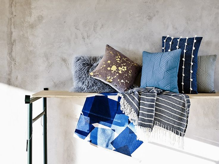 Cushions and throws are a simple and cost effective way to switch out trends for the new season