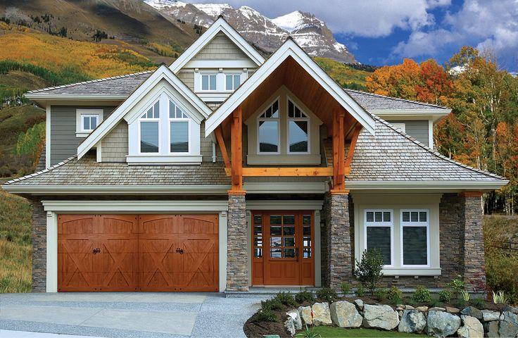 86 best faux wood garage doors images on pinterest wood for Ranch house garage doors