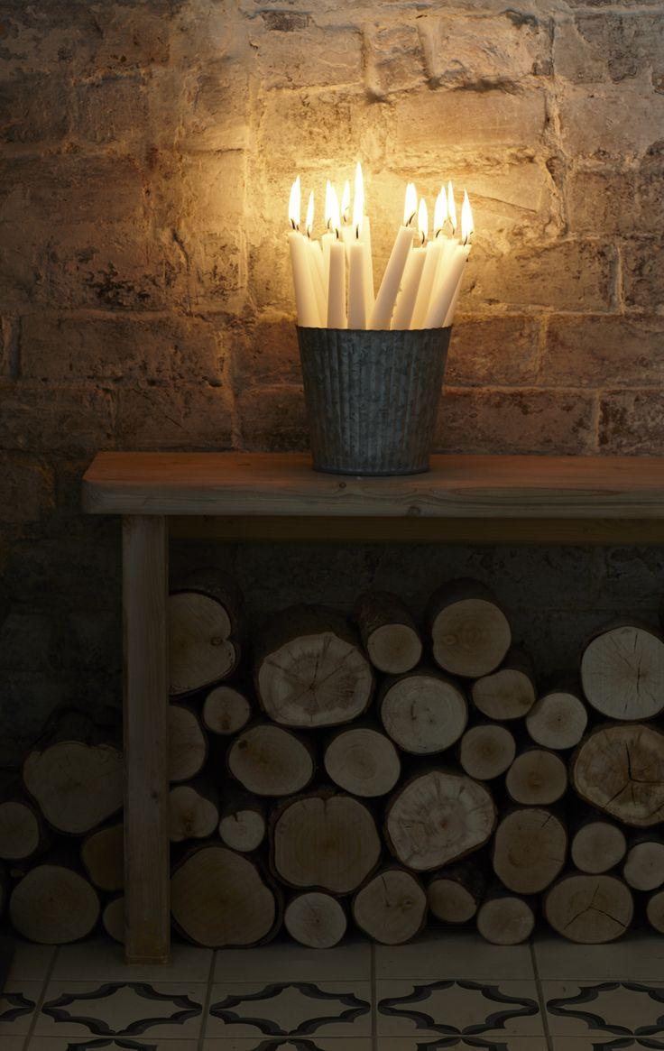 candlelight christmas festive fireplace