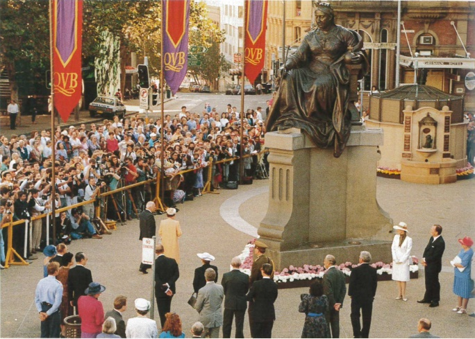1988: Royal Visit by Queen Elizabeth II to the QVB. #QVB #Sydney
