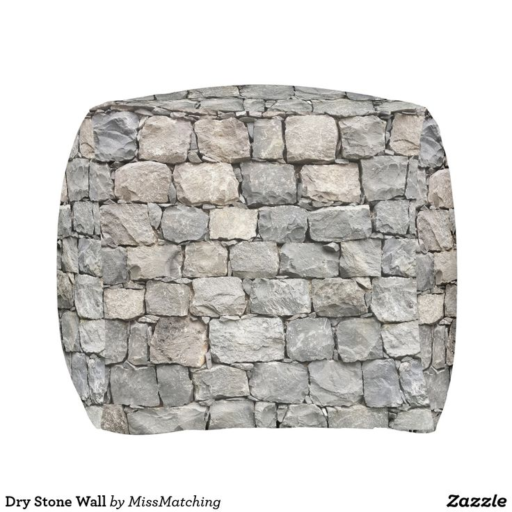 Quirky Dry Stone Wall Pouf