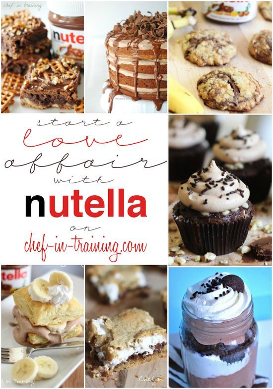 OVER 50 Mouthwatering Nutella | http://best-perfect-desserts.blogspot.com